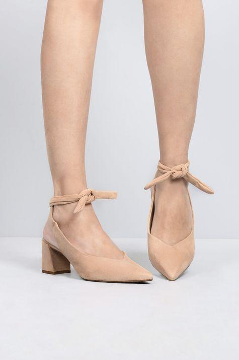 Sapato Feminino Salto Médio Miley Mundial CAM - NUDE 34