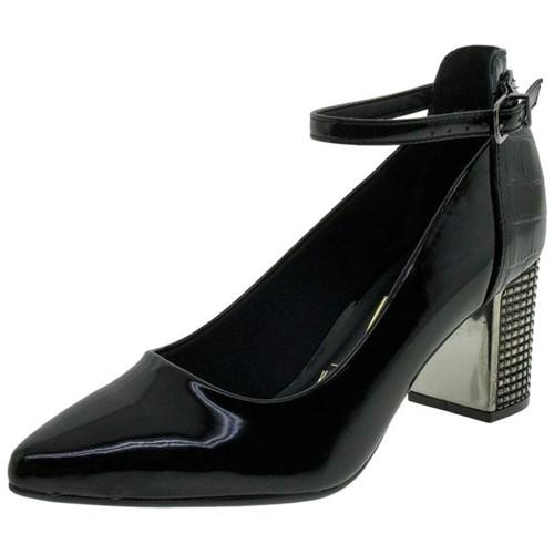 Sapato Feminino Salto Médio Preto Vizzano - 1290102