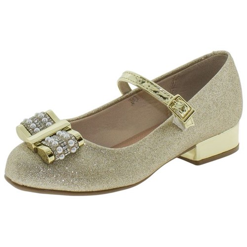 Sapato Infantil Feminino Molekinha - 2528103 Ouro 29
