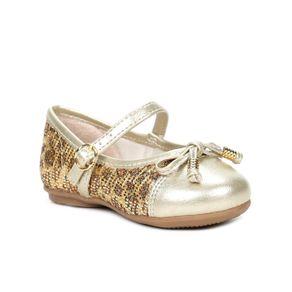 Sapato Infantil para Bebê Menina Dourado 19
