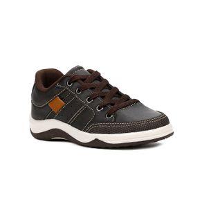 Sapato Kid + Infantil para Menino - Marrom/bege 29
