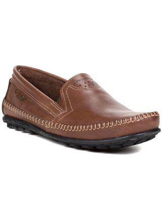 Sapato Mocassim Masculino Pegada Marrom Escuro