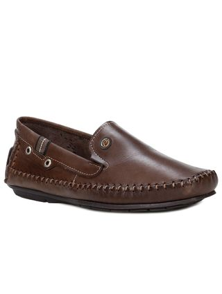 Sapato Mocassim Masculino Pegada Marrom