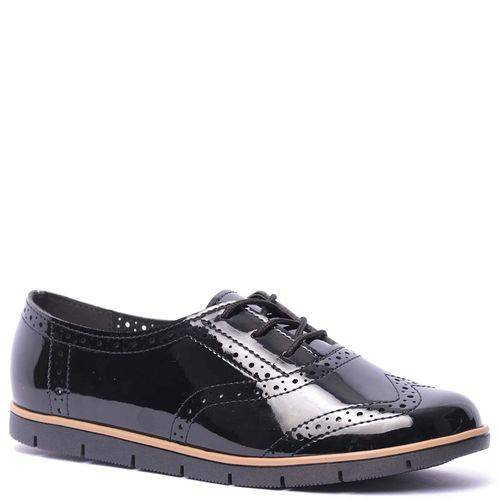 Sapato Oxford Feminino Moleca Verniz Premium