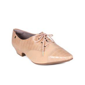 Sapato Oxford Feminino Piccadilly Nude 36
