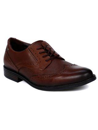 Sapato Oxford Masculino Pegada Marrom