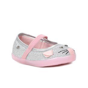 Sapato Pampili Infantil para Bebê Menina - Prata 17