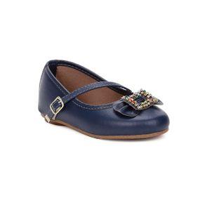 Sapato para Bebe Menina - Azul Marinho 17
