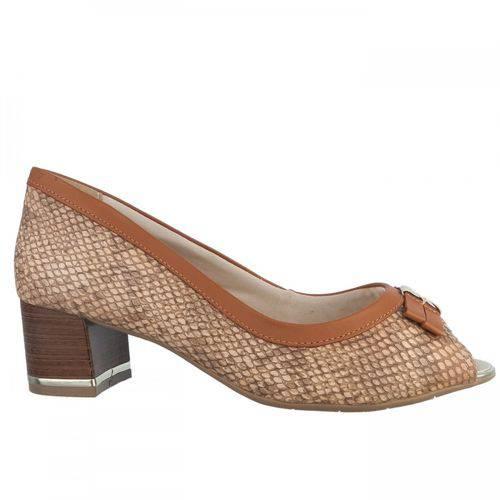 Sapato Peep Toe Feminino Comfortflex 1692405