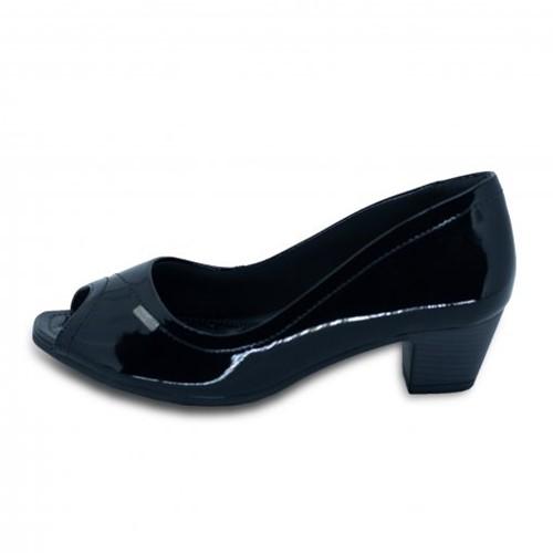 Sapato Peep Toe Feminino Comfortflex 18-64301 18-64301 1864301
