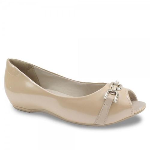 Sapato Peep Toe Feminino Comfortflex com Corrente 1776402