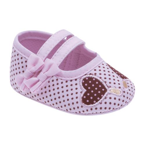 Sapato Rosa Bebê e Marrom Poá - 2