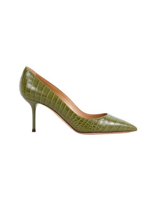 Sapato Salto Alto Purist Pump 75 Verde Tamanho 34