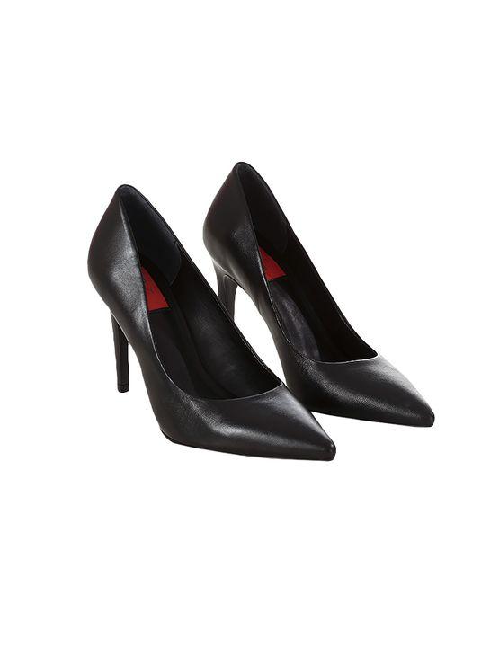 Sapato Scarpin Calvin Klein Jeans Couro Preto - 36