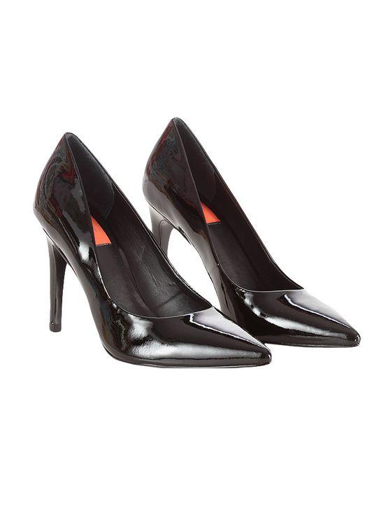 Sapato Scarpin Calvin Klein Jeans Verniz Couro Preto - 38