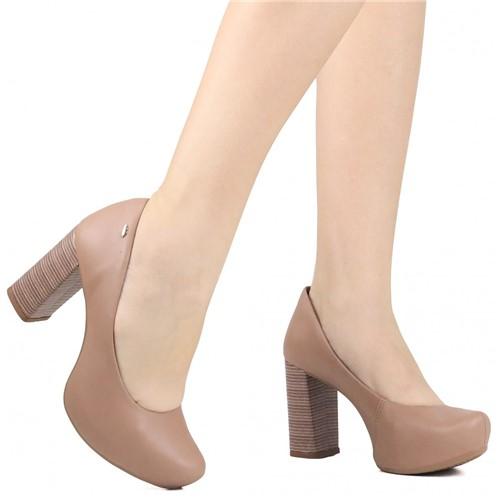 Sapato Scarpin Dakota Salto Grosso Marrom
