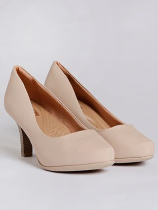 Sapato Scarpin Feminino Bege