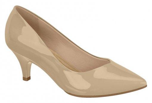 Sapato Scarpin Feminino Beira Rio Salto Baixo 40761001 Bege 40761001