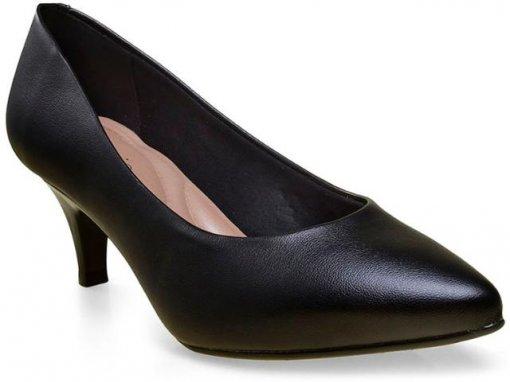 Sapato Scarpin Feminino Beira Rio Salto Baixo 4076150 Preto 4076150