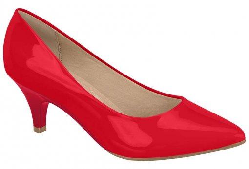 Sapato Scarpin Feminino Beira Rio Verniz 4076150 Vermelho 4076150