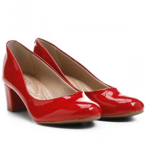 Sapato Scarpin Feminino Beira Rio Verniz Vermelho 4777309 4777309