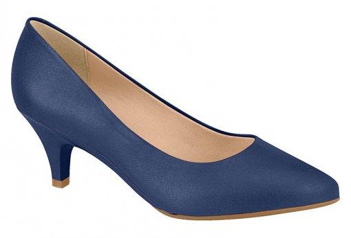 Sapato Scarpin Feminino BeiraRio Salto Baixo 4076150 Marinho 4076150