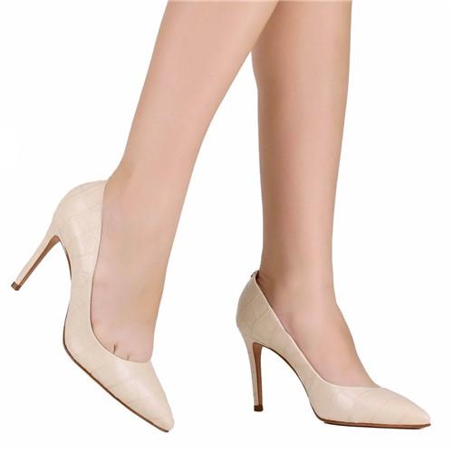 Sapato Scarpin Schutz Bico Fino Branco