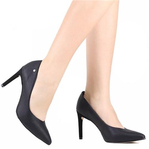 Sapato Scarpin Tanara Salto Fino Preto