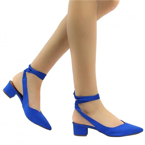 Sapato Zariff Shoes Lace Up em Suede Azul