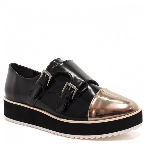 Sapato Zariff Shoes Oxford Flatform Monk Strap 2223 | Betisa