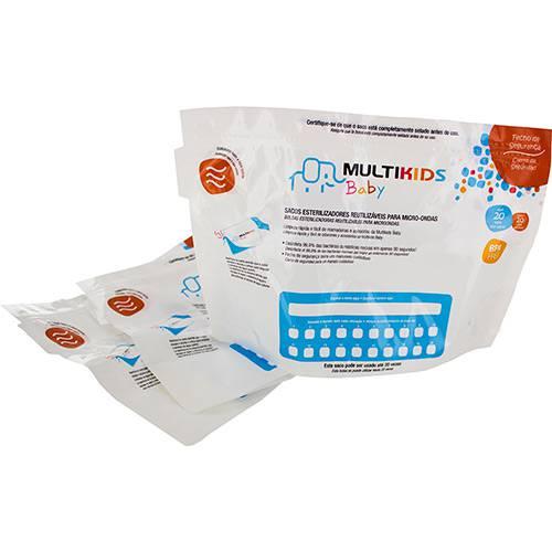 Saquinhos para Esterilizar no Microondas 6 Pacotes Multikids