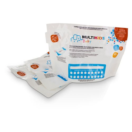 Saquinhos para Esterilizar no Microondas 6Pcs Multikids Baby - BB157