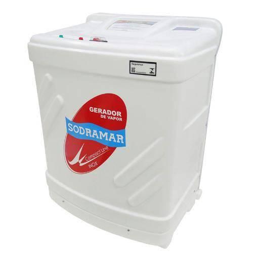 Sauna a Vapor Elétrica Modelo Compact Line Inox de 9kw para 10m³ 220v Bifásico - Sodramar