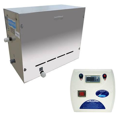 Sauna Vapor Elétrica Steam Inox 6kw Até 6m³ + Quadro Digital - Sodramar