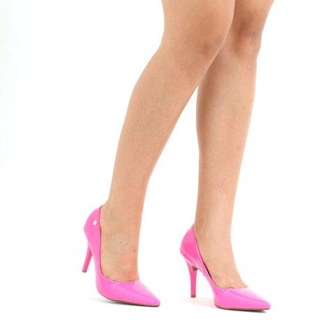 Scarpin Vizzano Neon Salto Alto - Pink