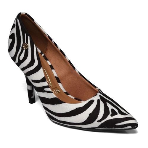 Scarpin Vizzano Zebra Luxo Branco 1184.101.17660.12945