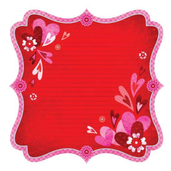 Scrap Amor Estilizada SDF074 Papel Scrapbook Amor Estilizada SDF074