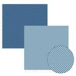 Scrap Azul Marinho Poá Grande KFSB116