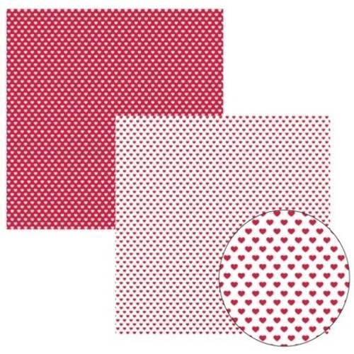 Scrap Basico Vermelho Fb Coração Kfsb154