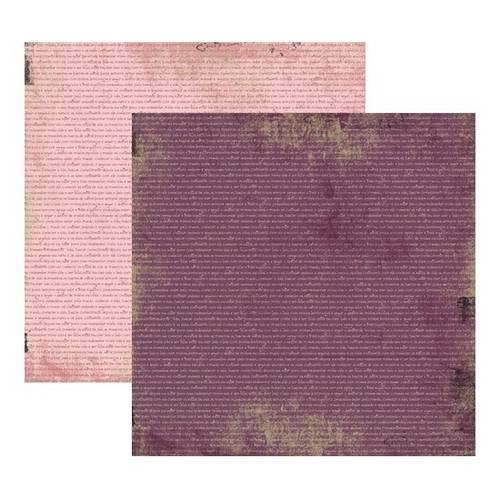 Scrap Basico Vintage Lilas Manuscrito Kfsb172 Toke e Crie