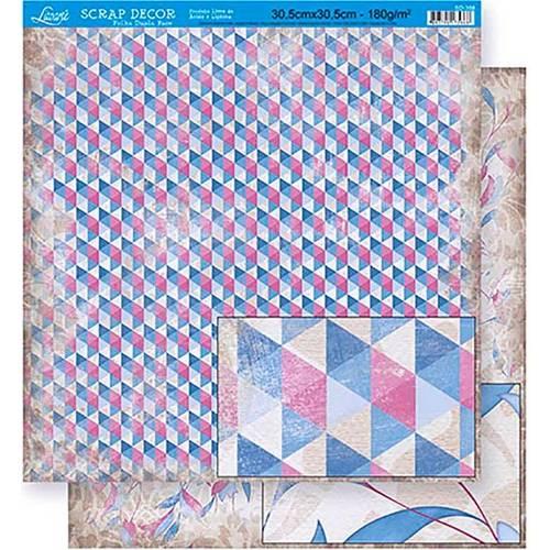 Scrapbook Folha Dupla Face Abstrato Sd-358 - Litoarte