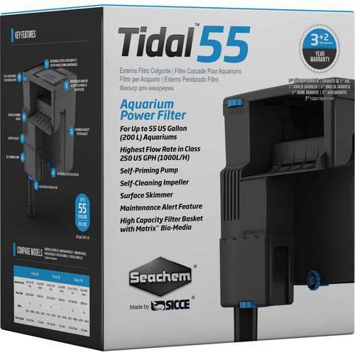 Seachem Filtro Tidal 55 1000L/H Hangon P/ Até 200L 127V - Un