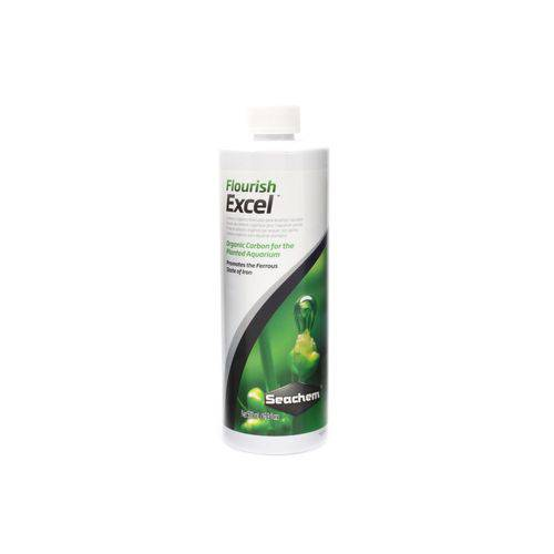 Seachem Flourish Excel 500ml Carbono Líquido Plantas Aquário - Seachem Flourish Excel 500m