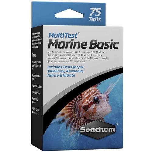Seachem Multitest Marinho Basico Faz Mais de 75 Testes