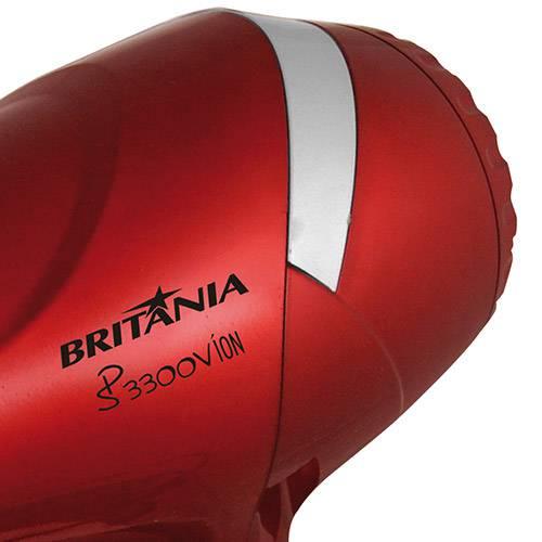 Secador de Cabelos Britânia SP3300V Íon Vermelho