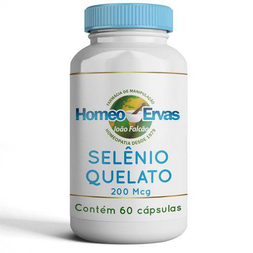 Selênio Quelato 200mcg - 60 CÁPSULAS - Homeo Ervas