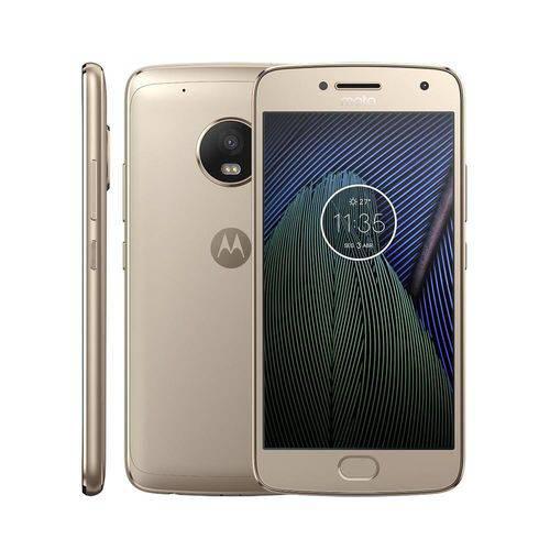 Usado: Moto G5 Plus Xt1683 32gb Dual Dourado