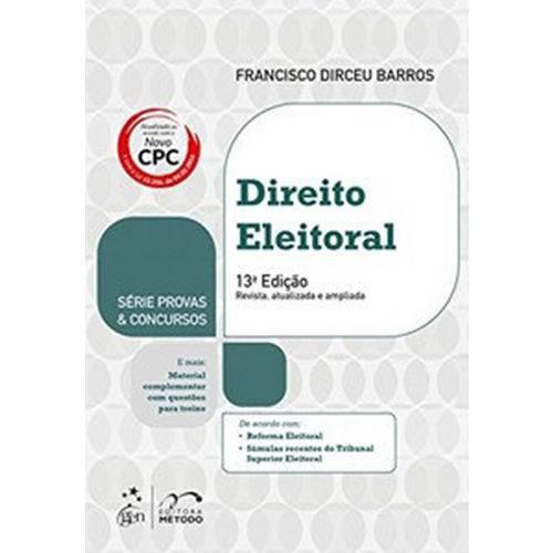 Série Provas e Concursos - Direito Eleitoral - 14ª Edição (2018)