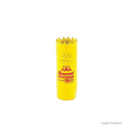 Serra Copo Bi-metal Fast Cut 19mm Amarela Starret