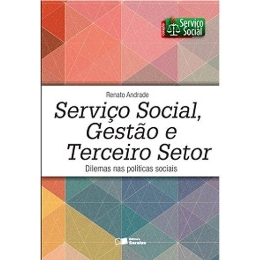 Servico Social Gestao e Terceiro Setor - Saraiva